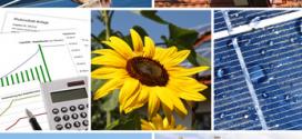 Solarenergie erzeugt Warmwasser und unterstützt die Heizung